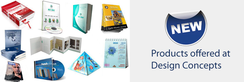 Printing Products offerings from Design Concepts
